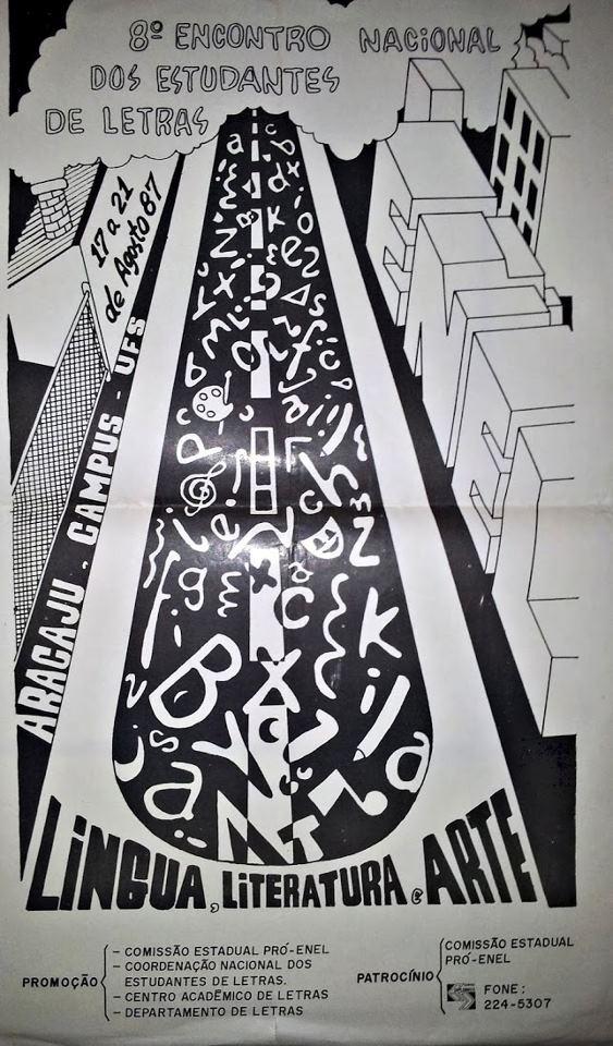 Cartaz do VIII ENEL (1987 - Universidade Federal de Sergipe)
