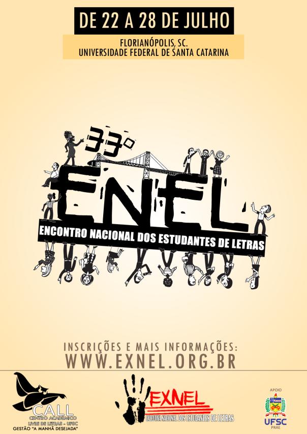 Cartaz do XXXIII ENEL (2012 - Universidade Federal de Santa Catarina)