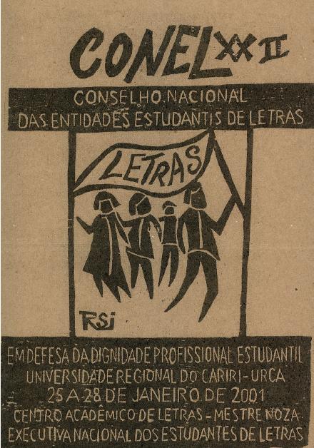 Cartaz do XXII Conselho Nacional de Entidades de Letras - 2001 (URCA - Universidade Regional do Cariri/CE)