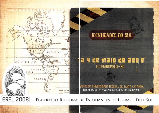 Cartaz do Encontro Regional dos Estudantes de Letras - Regional Sul - 2008 (UFSC - Florianópolis/SC)