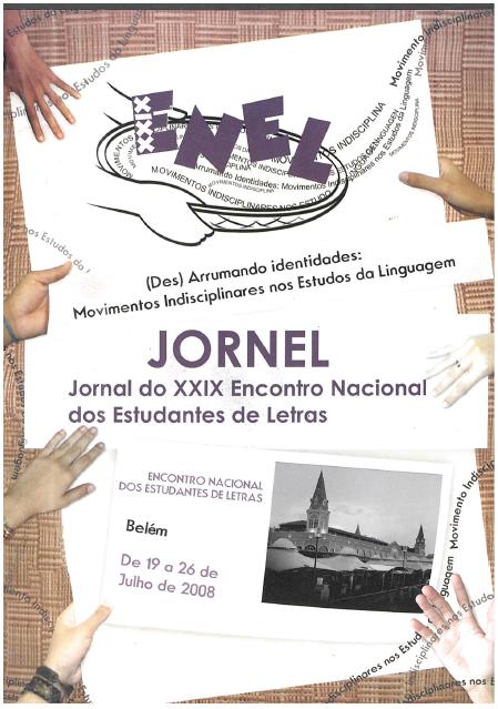 Capa do JORNEL, o Jornal do XXIX ENEL (2008 - Universidade Federal do Pará)
